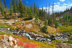 Lake Marie Falls Landscape Wyoming Royalty Free Stock Images