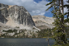 Lake Marie on scenic road of Wyoming Royalty Free Stock Photography