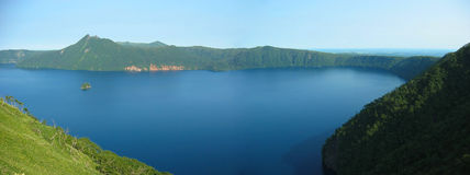 Lake Mashu. In Hokkaido, Japan.  This is one of the best places for sightseeing Royalty Free Stock Photography