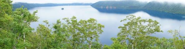 Lake Mashu (panorama). Lake Mashu in Hokkaido, Japan Stock Images