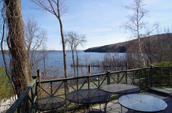Lake Massawippi in the Eastern Townships of Quebec stock image