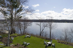 Lake Massawippi in the Eastern Townships of Quebec royalty free stock photos