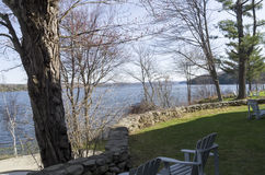 Lake Massawippi in the Eastern Townships of Quebec stock photos