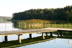 Lake in Masuria district Stock Photography