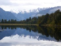 Lake Matheson arkivfoto