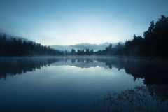 Lake matheson at dawn Royalty Free Stock Image