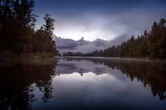 Lake Matheson. Locate near the Fox Glacier Stock Image