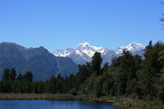 Lake Matheson / Mount Cook Stock Images