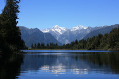 Lake Matheson / Mount Cook Royalty Free Stock Photos