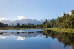 Lake Matheson and Mount Cook Royalty Free Stock Photos