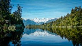 Lake matheson reflection royalty free stock photography