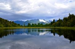 Lake Matheson Serene Relection Royalty Free Stock Photos