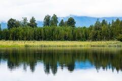 Lake matheson west coast  new zealand Stock Photos