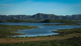Lake Mathews Estelle Mountain Reserve, Riverside County, California. Lake Mathews Estelle Mountain Reserve is a reservoir and natural habitat located in southern royalty free stock image