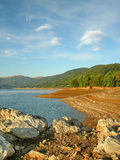 The lake of mavrovo Stock Photography