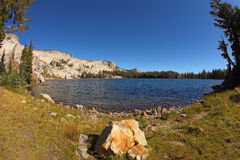 The lake May. It is used lens Stock Photography