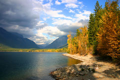 lake mcdonald Arkivbilder
