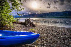 Lake McDonald on a Cloudy Late Afternoon Royalty Free Stock Image