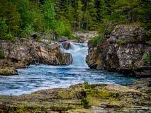 Lake McDonald Creek in Glacier National Park stock image