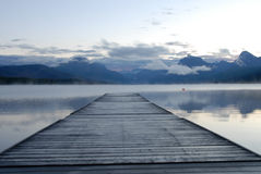 Lake McDonald and Dock Royalty Free Stock Image