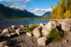 Lake McDonald, Glacier National Park. In the fall, in Montana Stock Photo