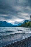 Lake McDonald, Glacier National Park, Montana. Portrait Stock Photography