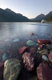 Lake McDonald, Glacier National Park, at Twilight Stock Photos