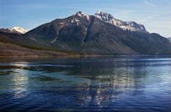 Lake McDonald Mountain Reflection Glacier Montana Stock Photos
