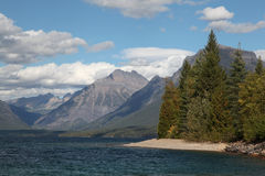Lake McDonald, Mountains and Clouds, Glacier N P Royalty Free Stock Images