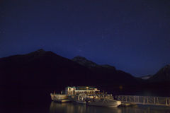 Lake McDonald Night Stars Glacier National Park Royalty Free Stock Photography
