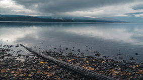 Lake McDonald on an overcast day. Royalty Free Stock Photos