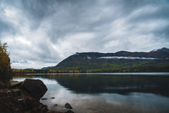 Lake McDonald on an overcast fall day. Stock Photography