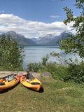 Lake McDonald recreation stock photos