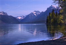 Lake McDonald Reflection Glacier National Montana Stock Image