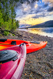 Lake McDonald on a Serene Late Afternoon Royalty Free Stock Image