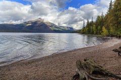 Lake Mcdonald shore. The pebbly shore of Lake mcdonald in Glacier National Park, montana Royalty Free Stock Photography