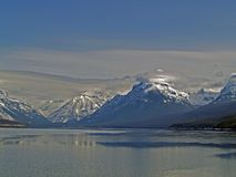 Lake McDonald Winter Landscape Stock Photography