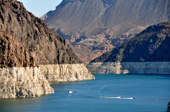 Lake Mead. Just north of the Hoover Dam on the border between the U.S. states of Arizona and Nevada Stock Photo