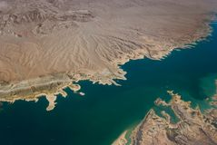Lake Mead. An aerial view of Lake Mead Stock Photography
