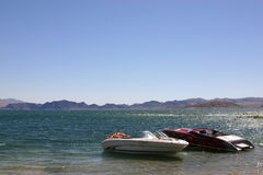 Lake mead. Boats on Lake mead Royalty Free Stock Images