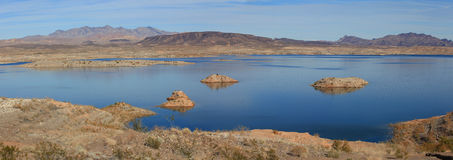 Lake Mead. Panoramic view of Lake Mead recreation area Stock Photography