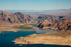 Lake Mead Aerial View. America, Arizona and Nevada Stock Photo