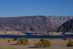 Lake Mead Area - Freshwater Lake Stock Image