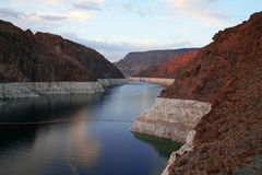 Lake Mead behind Hoover Dam Royalty Free Stock Images