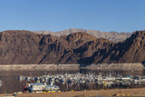 Lake Mead boat harbor in Boulder City, NV on January 30, 2013 Stock Photography