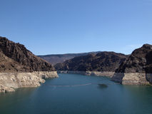 Lake Mead, Colorado River behind the Hoover Dam Royalty Free Stock Photography