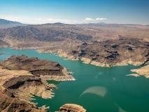 Lake Mead Erholungsgebiet, wie von einem Hubschrauber gesehen lizenzfreies stockfoto