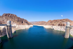 Lake Mead and Hoover Dam Royalty Free Stock Photos