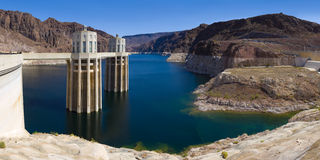 Lake Mead at Hoover Dam Panorama Royalty Free Stock Image