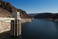 Lake Mead and Hoover Dam. View on the Lake Mead from the Hoover Dam Royalty Free Stock Photography